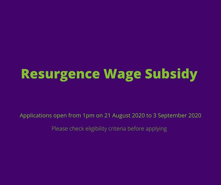 Resurgence Wage Subsidy