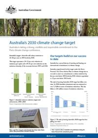 Australia's climate change target 2030