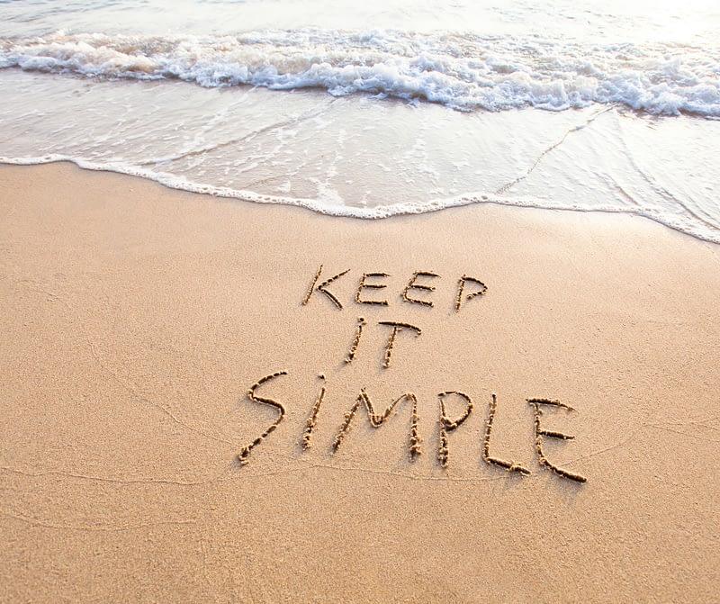 Keep It Simple on beach