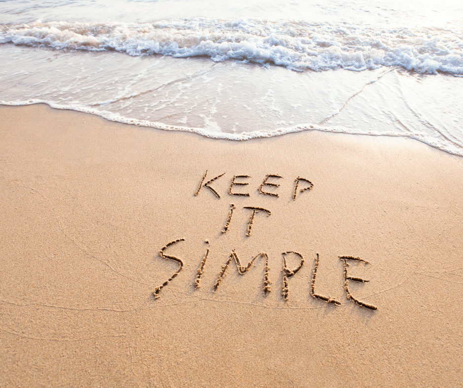 Keep It Simple on beach